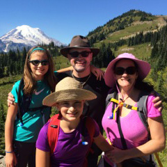 Dr. Rouse and his family in the mountains