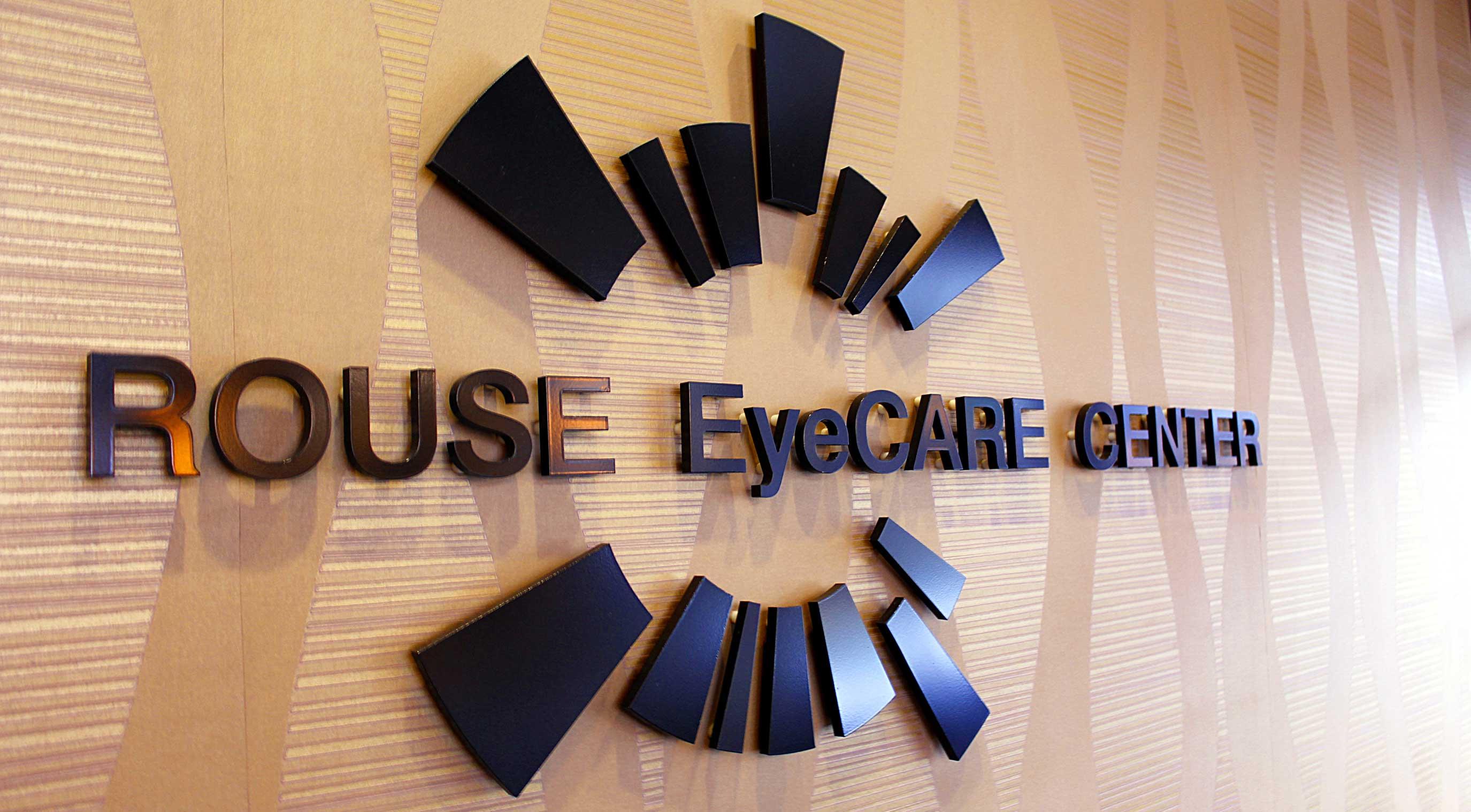 Rouse Eye Care Center front lobby logo